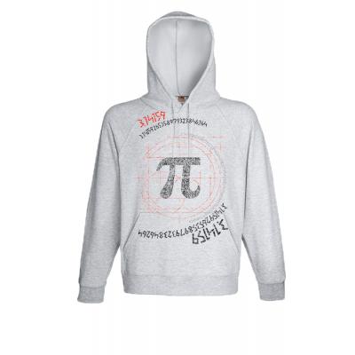 Π Greek Hooded Sweatshirt  with print