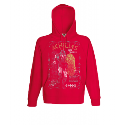 Achilles Gold Hooded Sweatshirt  with print