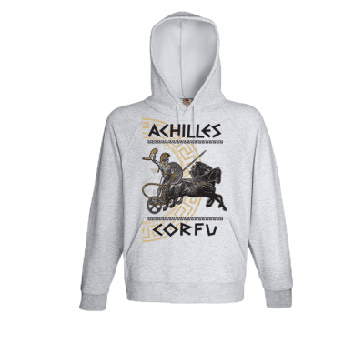 Achilles Gold Corfu Hooded Sweatshirt  with print