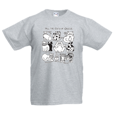All The Cats Of Greece Kids T-Shirt with print