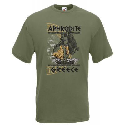 Aphrodite Gold T-Shirt with print