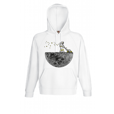 Astronaut Lawn Mower Hooded Sweatshirt