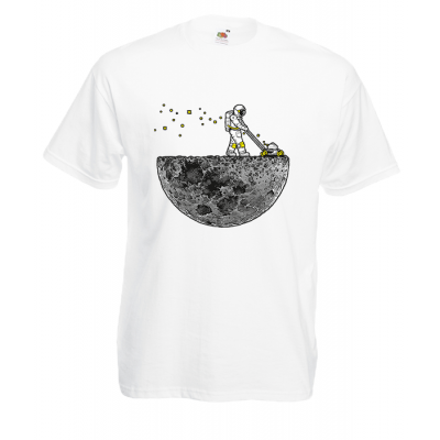 Astronaut Lawn Mower T-Shirt with print