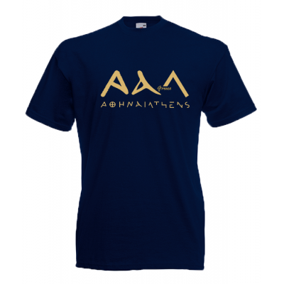 Athens 3A Gold T-Shirt with print
