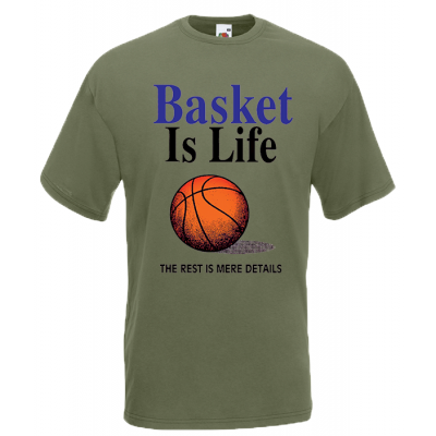 Basket Is Life T-Shirt with print