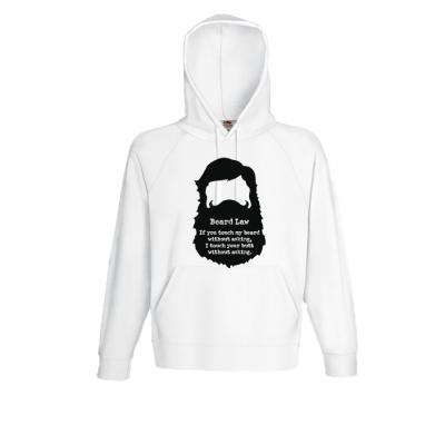 Beard Law Hooded Sweatshirt with print