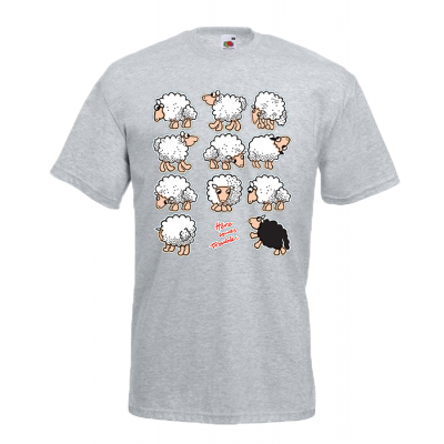 Black Sheep Trouble T-Shirt with print
