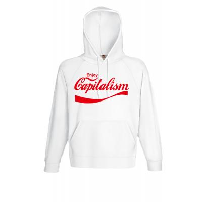Capitalism Logo Hooded Sweatshirt  with print