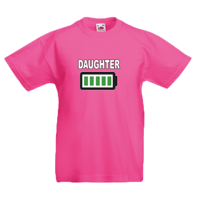 Daughter Battery Kids T-Shirt with print
