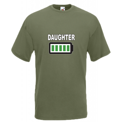 Daughter Battery T-Shirt with print