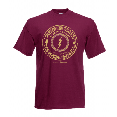 Daughter Of Zeus Gold T-Shirt with print