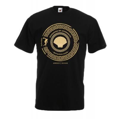 Daughter Of Aphrodite Gold T-Shirt with print