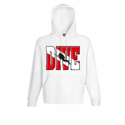 Dive Logo Hooded Sweatshirt with print