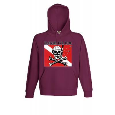 Dive Club Hooded Sweatshirt with print