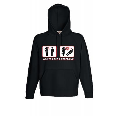 Drop A Boyfriend Hooded Sweatshirt  with print
