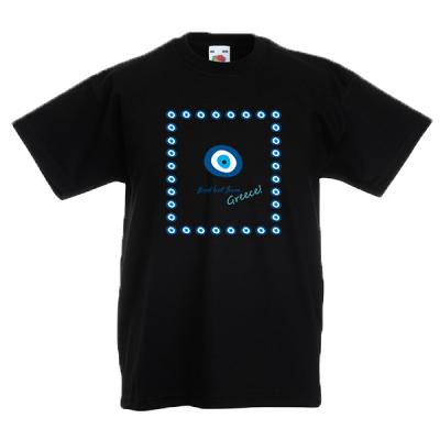 Evil Eye Square Kids T-Shirt with prin