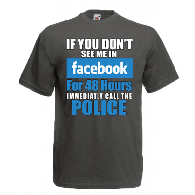 Facebook 48 Hours T-Shirt with print