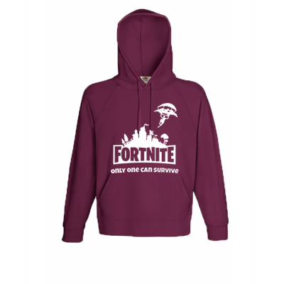 Fornite Skydiver White Hooded Sweatshirt with print