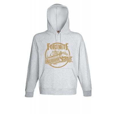 Fortnite Battle Bus Gold Hooded Sweatshirt with print