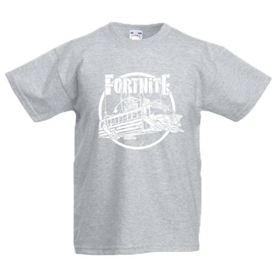 Fortnite Battle Bus White Kids T-Shirt with print