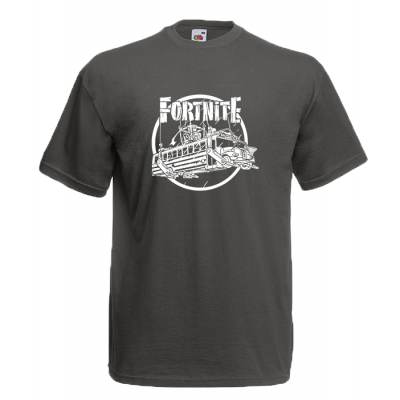 Fortnite Battle Bus White T-Shirt with print