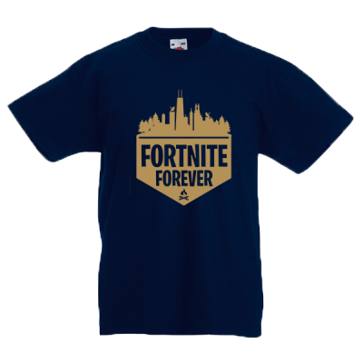 Fortnite Forever Gold Kids T-Shirt with print