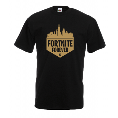 Fortnite Forever Gold T-Shirt with print