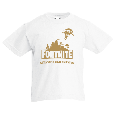 Fortnite Skydiver Gold Kids T-Shirt with print