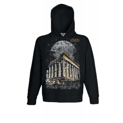 Full Moon Parthenon Hooded Sweatshirt  with print