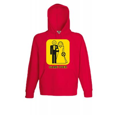 Game Over Yellow Hooded Sweatshirt  with print