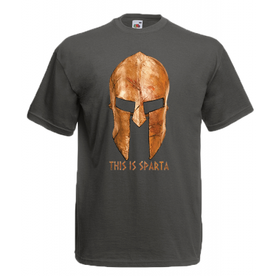 Gold Helmet This is Sparta T-Shirt with print