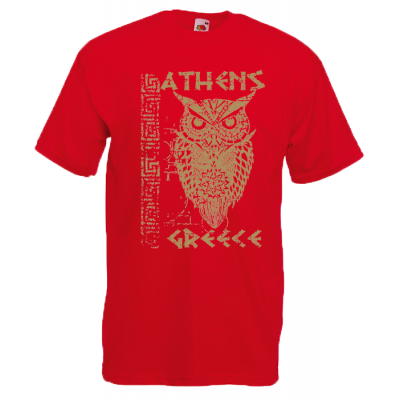 Gold Owl Athens T-Shirt with print