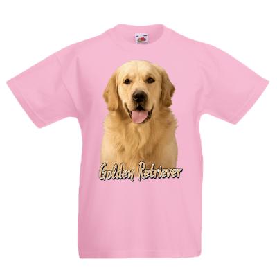 Golden Retriever Kids T-Shirt with print