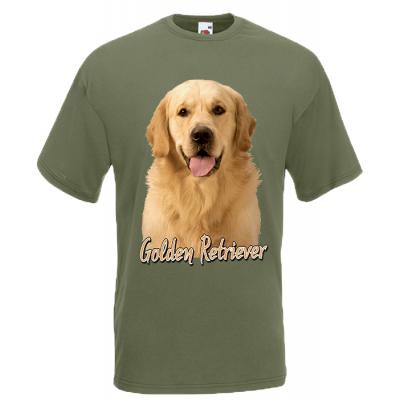 Golden Retriever T-Shirt with print