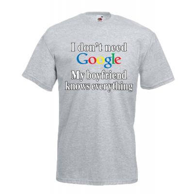 Google Boyfriend T-Shirt with print