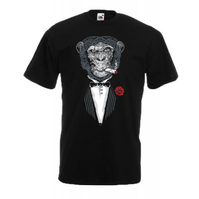 Gorilla Godfather T-Shirt with print