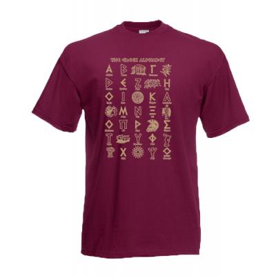 Greek Alphabet Gold T-Shirt with print