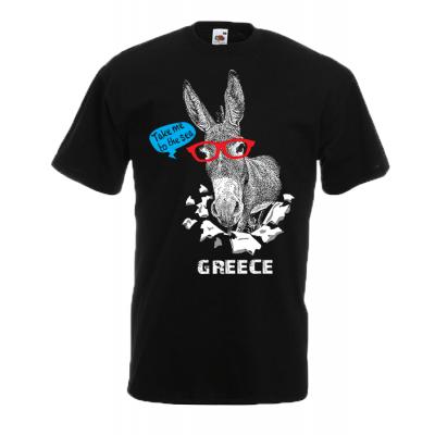 Greek Donkey T-Shirt with print