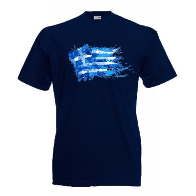 Greek Flag Splash T-Shirt with print