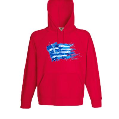 Greek Flag Splash Sweatshirt with print