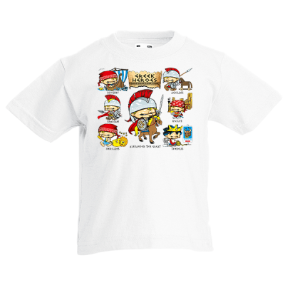 Greek Heroes Kids T-Shirt with print