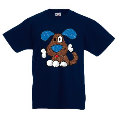Happy Dog Kids T-Shirt with print