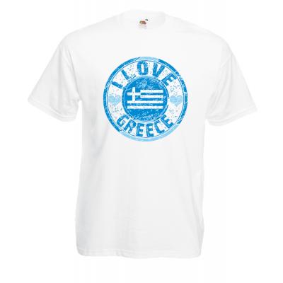 I Love Greece Flag T-Shirt with print