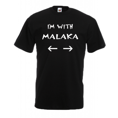 Im With M@l@k@ T-Shirt with print