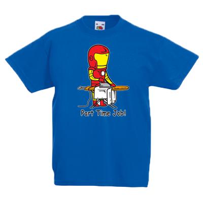Iron Man Part Time Job Kids T-Shirt with print