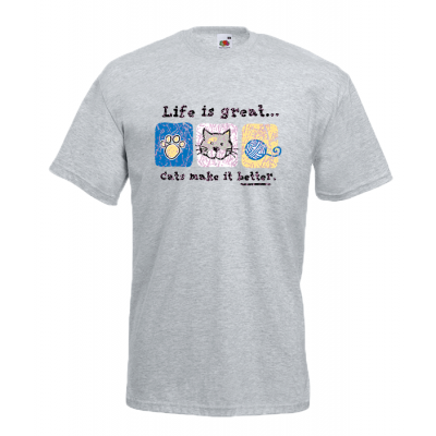 Life Is Great Cats T-Shirt with print