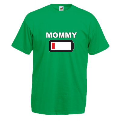 Mommy Battery T-Shirt with print