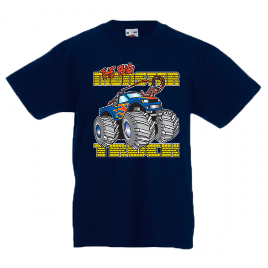 T-Shirt with print Monster Truck-3316