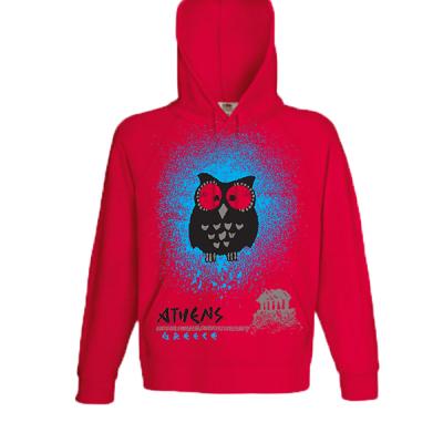 Owl Acropolis Hooded Sweatshirt  with print