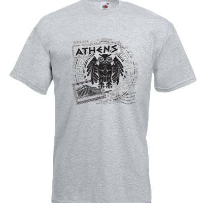 Owl Parthenon T-Shirt with print